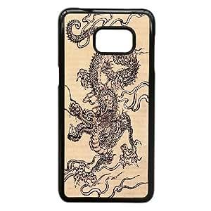 Samsung Galaxy S6 Edge Plus Phone Case Black Ancient Dragon VJN340172