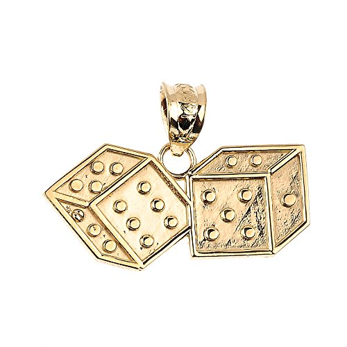14k Yellow Gold Dice - 9