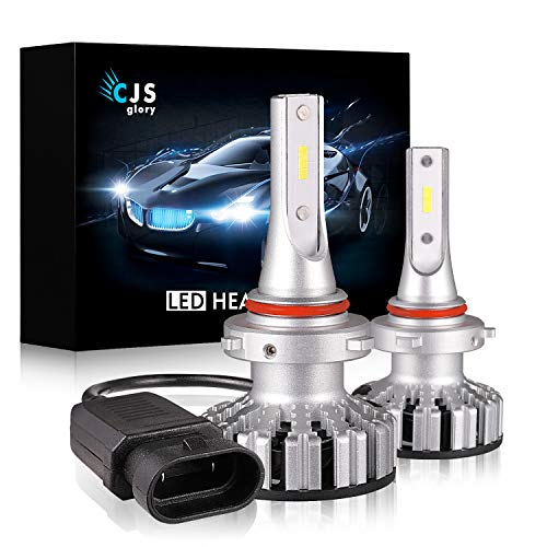 (LED Headlight Bulbs 9006 HB4,10000LM CSP Chips Extremely Bright 6000K (Cool White) All-in-One Anti-Flicker Conversion Kit HID or Halogen Headlight Replacement - 2 Years Warranty)