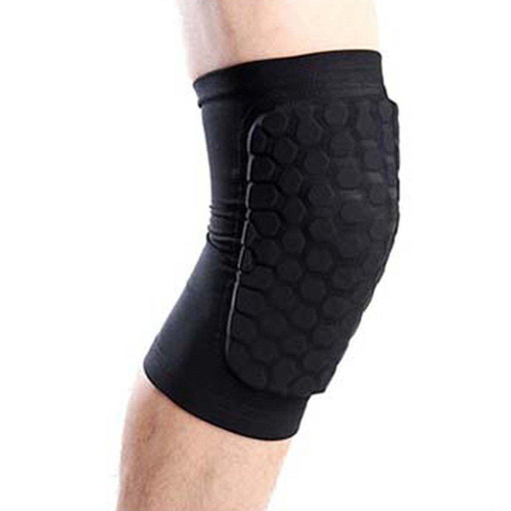 1 Pair Protective Knee Brace, Honeycomb Kneepad Knee Compression Support Sleeve Leg Guard Hexpad for Unisex Outdoor Sport Hiking Climbing MoonLove