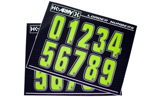 paintball number stickers - 2