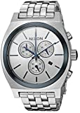 Nixon Men's 'Time Teller Chrono' Quartz Stainless Steel Casual Watch, Color:Silver-Toned (Model: A9722450-00)