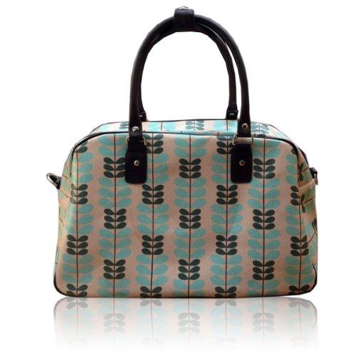 Oilcloth New UNION Travel Holdall Owl Dot Weekend CREAM Polka Bag JACK Print Flower Bwfq1w