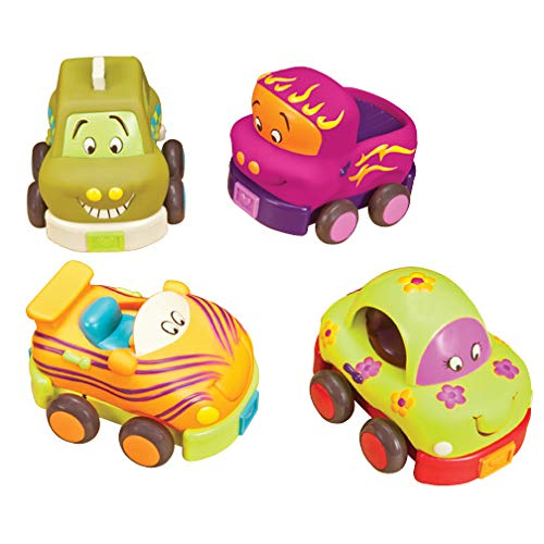B. Wheeee-ls Pull Back Toy Vehicle Set With Sounds