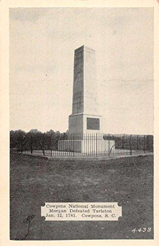 Cowpens South Carolina National Monument Street View Antique Postcard K77929