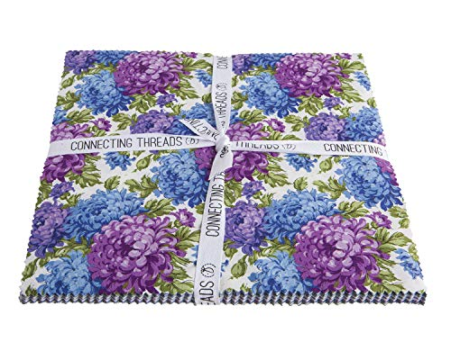 - Connecting Threads Print Collection Precut Quilting Fabric Bundle (Mum's Garden - 10
