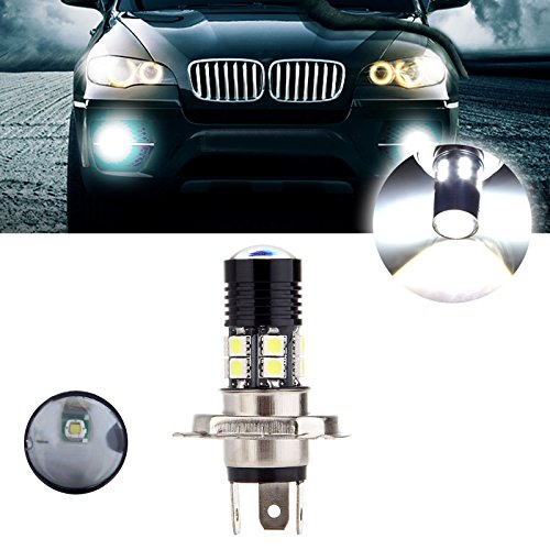 cciyu 1 Pack White New H4 6000K 30W 3000LM Cree Headlight LED 12 SMD Motorcycle Light Lamp US
