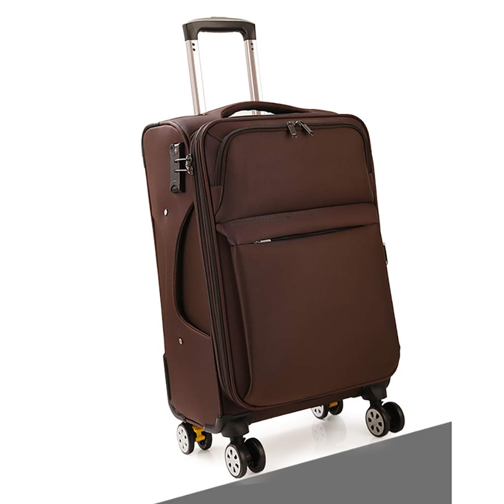 荷物ボックスのパスワードボックスユニバーサルホイールスーツケース女性24インチの革箱オックスフォードブラスボックスの男性 (色 : C, サイズ さいず : 24inch) B07HCWK5B3 24inch|C C 24inch