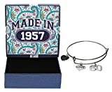 60th Birthday Gifts for Her Made 1957 Charm Bracelet Jewelry Box