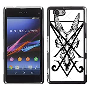 For Sony Xperia Z1 Compact / Z1 Mini / D5503 ,S-type® Letters Initial V Pen Art Tile Monster - Arte & diseño plástico duro Fundas Cover Cubre Hard Case Cover