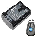 amsahr Digital Replacement Camera and Camcorder Battery for JVC BN: VG107, VG107U, VG107US, VG108, VG108E, VG108U, VG108USM, VG114, VG114US, VG121VG138E, VG138EU - Includes Lens Accessories Pouch