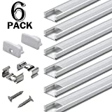 Starlandled LED Strip Channel 6-Pack,Easy to