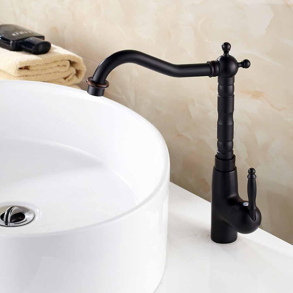 JIAHENGY Sink Mixer Faucet tap Modern fashion simple fashion Swivel Spout Monobloc Black,oil Rubbed Bronze Toilet Kitchen bathroom