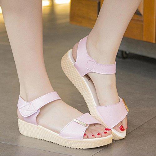 Calzado de mujer,Amlaiworld Zapatos de la playa de las sandalias de las mujeres Rosa