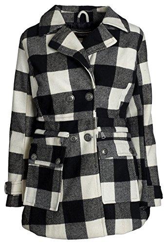 Urban Junior Women Classic Wool Look Padded Winter Dress ...
