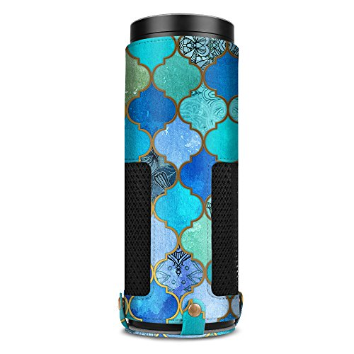 Fintie Protective Case for Amazon Echo (1st Generation) - Premium Vegan Leather Cover Sleeve Skins, Cool Jade (Official Micklyn Le Feuvre (1st Generation Skin)