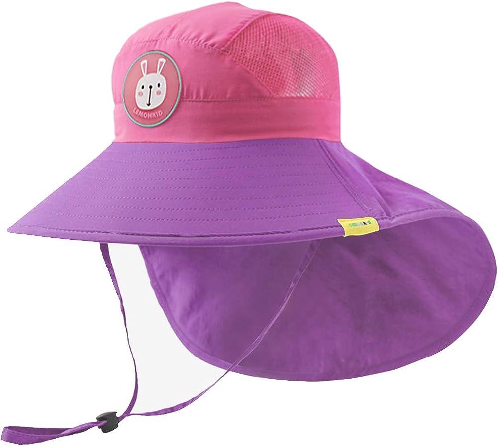 Sun Protection Bucket Hats Kids Unisex Baby Sun Hat Toddler Summer Beach UPF 50