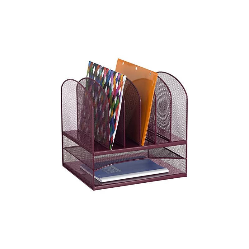 Safco Products Onyx Mesh 2 Tray/6 Sorter