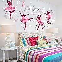 Brandream Kids Rooms Wall Sticker Pink Ballet Wall Decals...