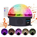 LED Crystal Magic Ball Party Light,Christmas Decoration Lights, 6 Colors Stage Effect Lighting 15W with,Sound Activated Light with Remote Control MP3 Play and USB for Disco Xmas KTV Club Pub Show