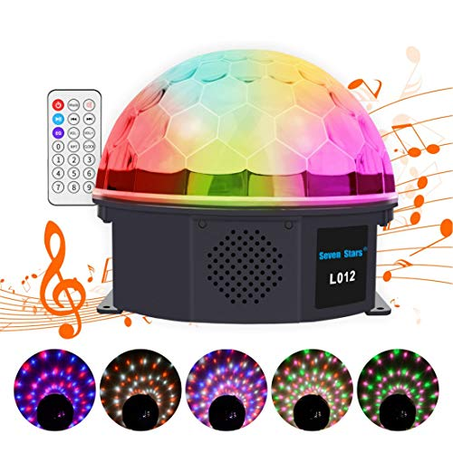 Mini Rotating Disco Light,RGBW Moving Head Stage Light with Full Color LED Strobe Light Bar Sound Activated,Master-slave, Auto Running for Bars Disco hall Performance Places (Magic Ball)