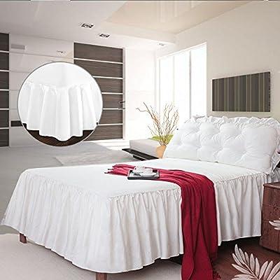 Amazon Com Littlegrass Bed Skirt Fitted Sheet Bedspread Bed Wrap 3