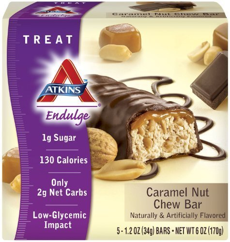 Endulge Bar, Crml Nut Chew, 5 pk ( Multi-Pack) by Atkins ()