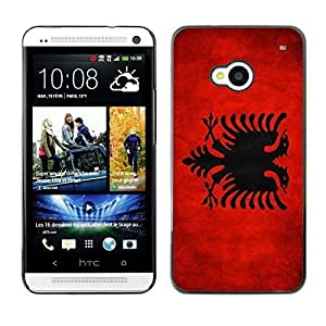 Shell-Star ( National Flag Series-Albania ) Snap On Hard Protective Case For HTC One (M7)