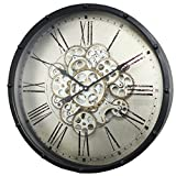 Roman Numeral Gear Wall Clock