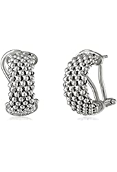 Sterling Silver Italian Rhodium-Plated Mesh Earrings