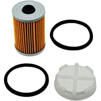Fuel Filter and Filtering Disk Set 35-8M0093688 866171A1 8M0093688 35-892665 for Mercury Marine Mercruiser Engines with Gen III 3 Fuel Cooler