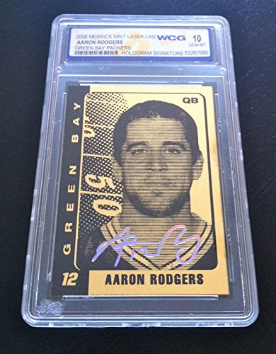 """Used, AARON RODGERS 2008"""" SIGNATURE SERIES 23KT GOLD CARD! for sale  Delivered anywhere in USA"""