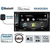 Kenwood DDX393 In Dash Double Din CD DVD Receiver with SiriusXM Satellite Radio SXV300v1 and a FREE SOTS Air Freshener