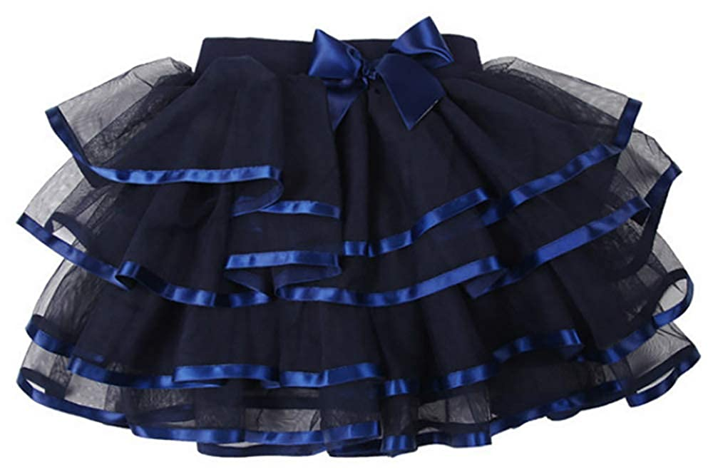 storeofbaby Little Big Girls Tutu Skirt 4-Layered Tulle Holiday Party Dress Up Skirts 2-13 Years ZT-LWDQ02-Tutu Skirt