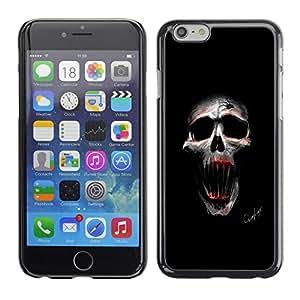 LECELL--Funda protectora / Cubierta / Piel For iPhone 6 -- Cráneo malvado --