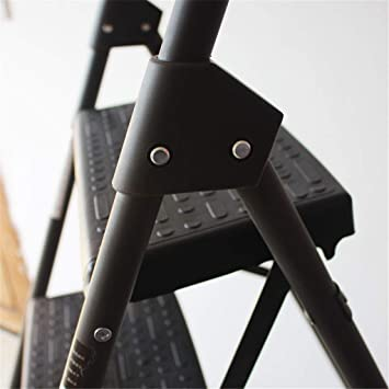 Escalera multifunción de acero de cuatro pasos, antideslizante, tres escalones, taburete de la familia de doble propósito escalera, taburete de balcón/dormitorio de ocio reposapiés estable, gris: Amazon.es: Oficina y papelería
