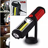 Zhuoman New Portable USB Rechargeable COB LED Flashlight Torch Work Light lanterna Magnetic Stand Hanging Lamp for Outdoor Camping …