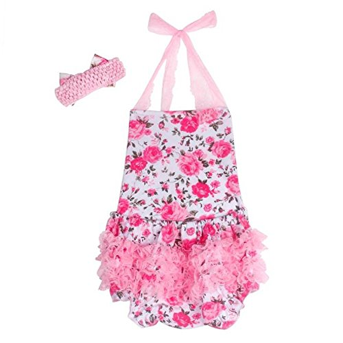 FEITONG Girls Baby Kid Halter Lace Romper Backless Sunsuit Jumpsuit Dress (Age 12-24M, - One Piece Gap Baby
