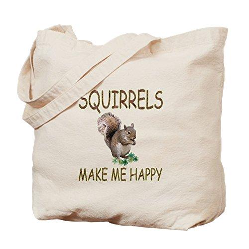 CafePress Squirrels Natural Canvas Tote Bag, Cloth Shopping Bag