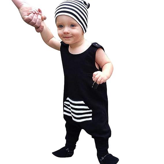 Niño Bebe Monos K-youth® Ropa Bebe Niño Verano Ropa Bebe Recien Nacido Bebé 15df1edddb3