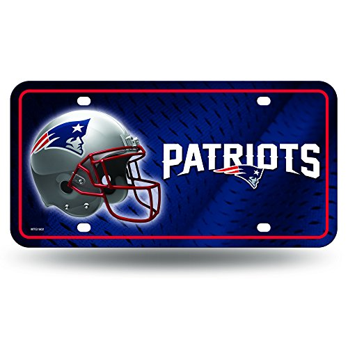 NFL New England Patriots Metal License Plate Tag