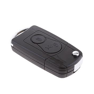 MagiDeal Carcasa de Llave de Coche Mando a Distancia Reemplazo Automóvil 2 Botón para Ssangyong Actyon Kyron Rexton