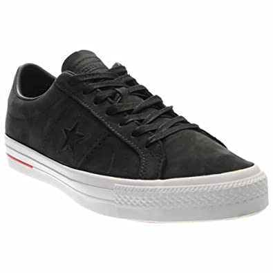 67bb195fc7ca74 Converse One Star Pro Ox Skate Shoes - Black Red   Blue-Men 9.0