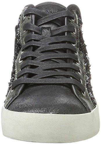 Sneaker schwarz Nero A London Collo 25041a17b Crime Donna Alto ExHS8qnwF