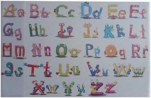 """Schreibtischunterlage 58,5x38,5cm mit Alphabet /""""ABC/"""""""