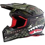 O'Neal 5 SRS Unisex-Adult Off-Road-Helmet-Style War Hawk Helmet (Black/Green, X-Large)