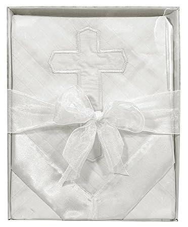 Amazon.com: Stephan bebé/para bautizo bendición Woven satén ...