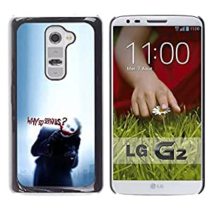 LOVE FOR LG G2 Why So Serious Puppy Cute Sad Rain Personalized Design Custom DIY Case Cover