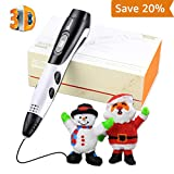 3D Pen for Kids with 100 Stencils EBook 2018 Newest Version 3D Pen Kits with 7.5m PLA Filament 3D Printing Pen with LCD Display PLA Filament Refills for Adults, Doodling, Artist, Girls, DIY, Drawing