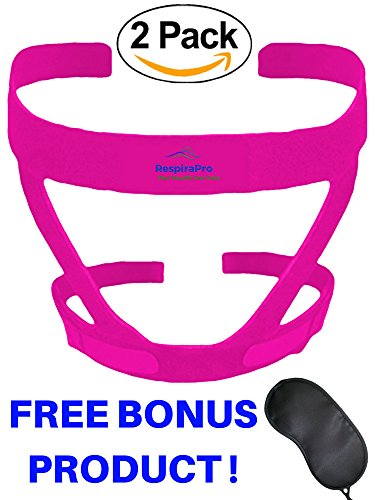 CPAP Headgear Strap: Two-pack Universal ResMed & Respironics Straps for CPAP / BIPAP Mask, No Air Leaks Ultimate Comfort Tight Seal & Perfect Fit Compatible w/ Full Face & Nasal Apnea Masks Small Pink (Nasal Mask Cpap Softgel)